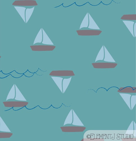Be A Great Sea - 008-11 - Beach Glass Sailboat