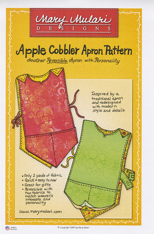 Apple Cobbler Apron Pattern