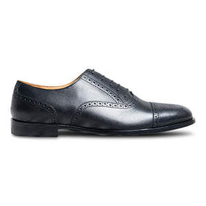 dmodot black cap-toe leather oxfords india
