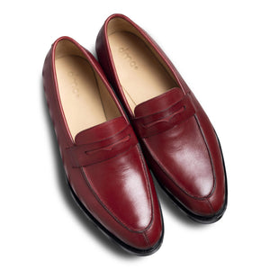 dmodot red leather brogues loafer india