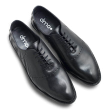 dmodot Wholecut black leather oxfords