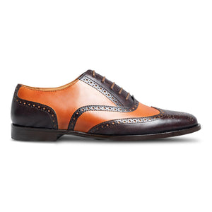 Chocolatto Leather Brogue Shoe-1