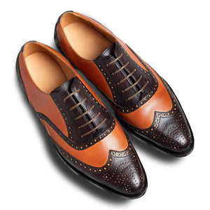 Chocolatto Leather Brogue Shoe-3