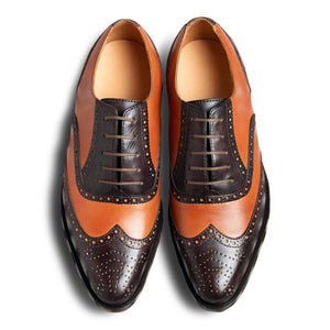 Chocolatto Leather Brogue Shoe