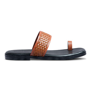 Pelle Liscio Leather Chappal-1