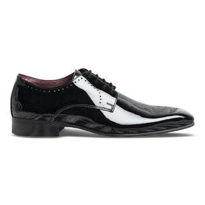 dmodot black patent leather tuxedo shoes