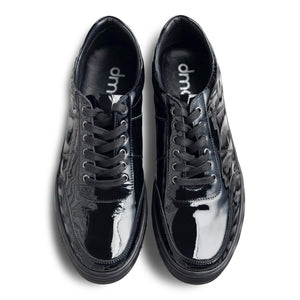 dmodot black patent leather sneaker