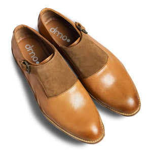 dmodot tan leather single monkstrap