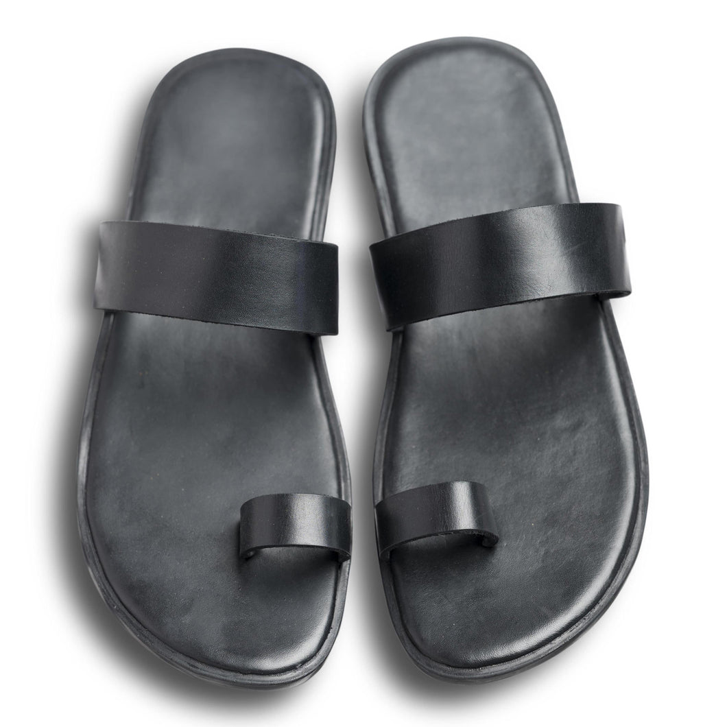 Pelle Noir Leather Chappal for Men and Women