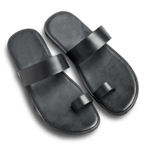 Pelle Noir Leather Chappal for Men and Women-3
