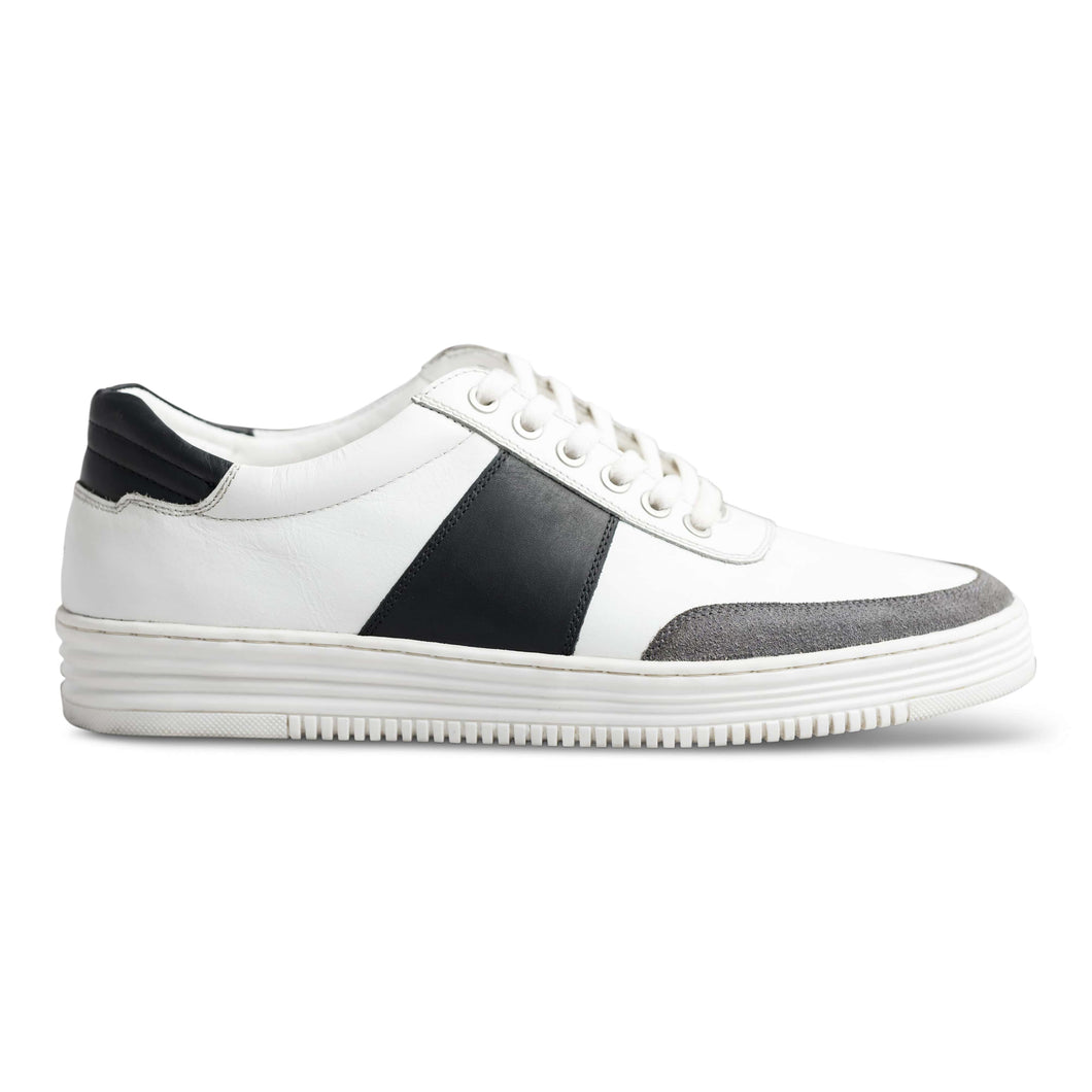 dmodot white leather sneaker