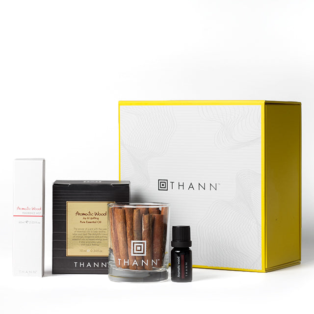 Aromatic Wood Joyful Home Ritual Gift Set ($59 Value) - THANN USA