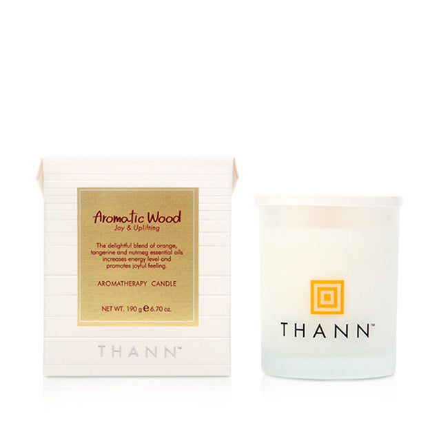 Aromatic Wood Aromatherapy Candle - THANN USA