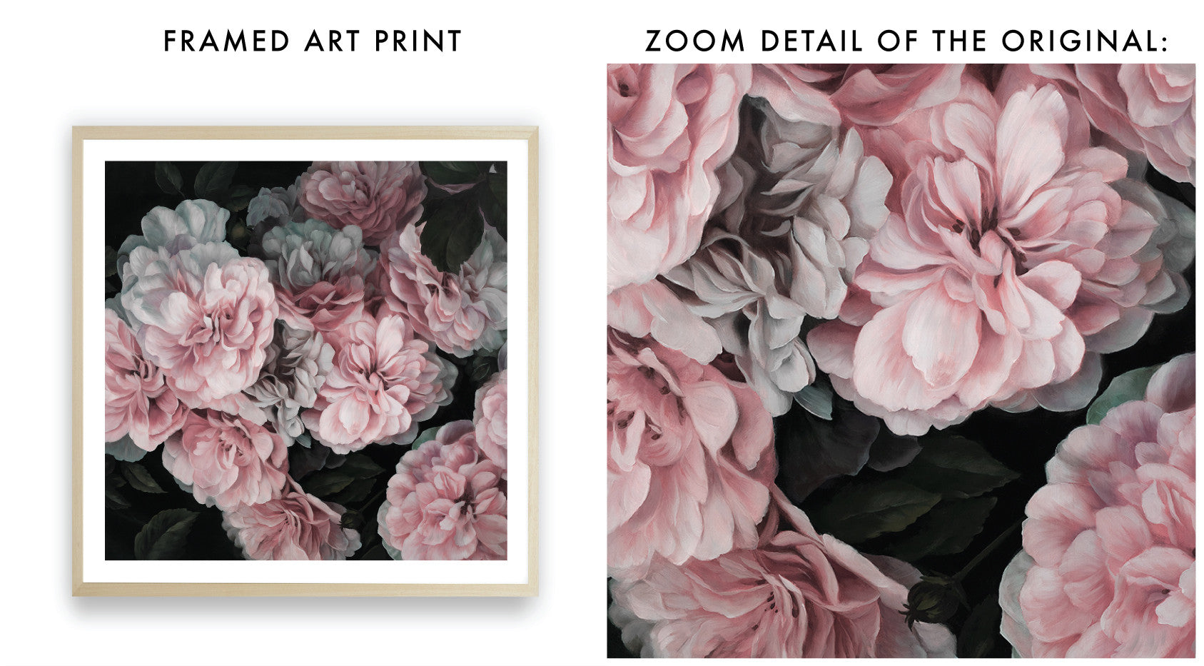 Pink Blooms Square Art Print By The Print Emporium