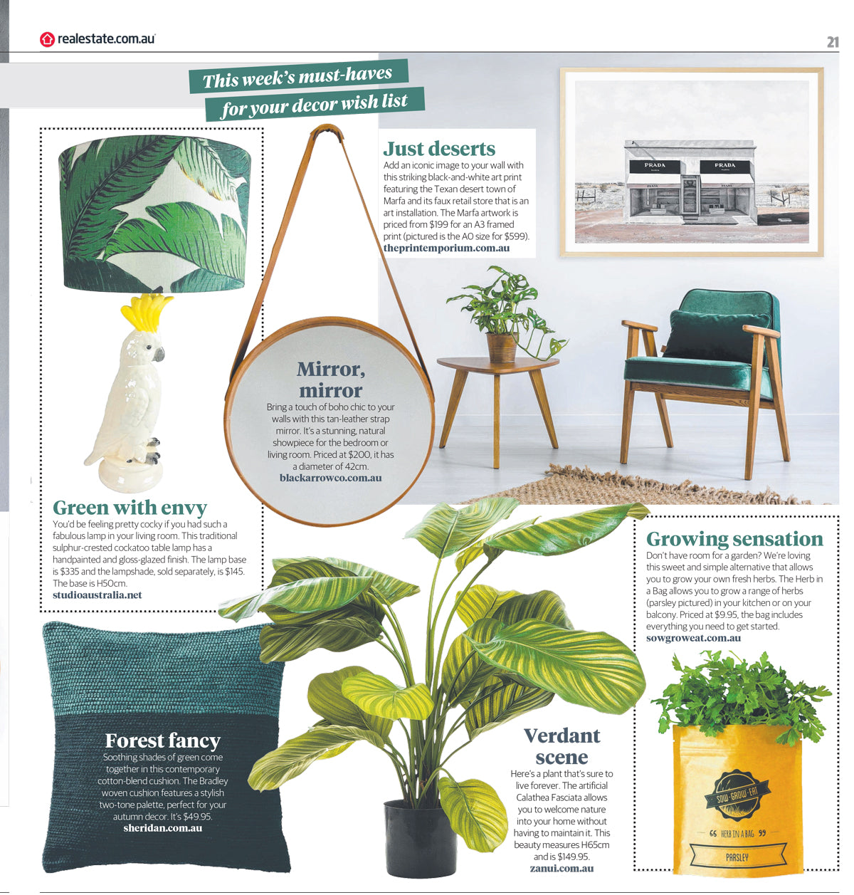 Herald Sun Home & Living Magazine - Marfa Art Print by The Print Emporium