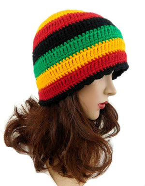 Rasta Beanie Hat Multi Color
