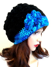 Load image into Gallery viewer, Slouch Beanie Flower Hat
