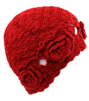 Red Crochet Handmade Hat