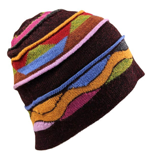 Alpaca Brown Multi Color Hat