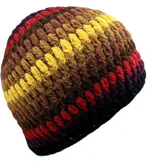 Handmade  Alpaca Beanie Multi Color
