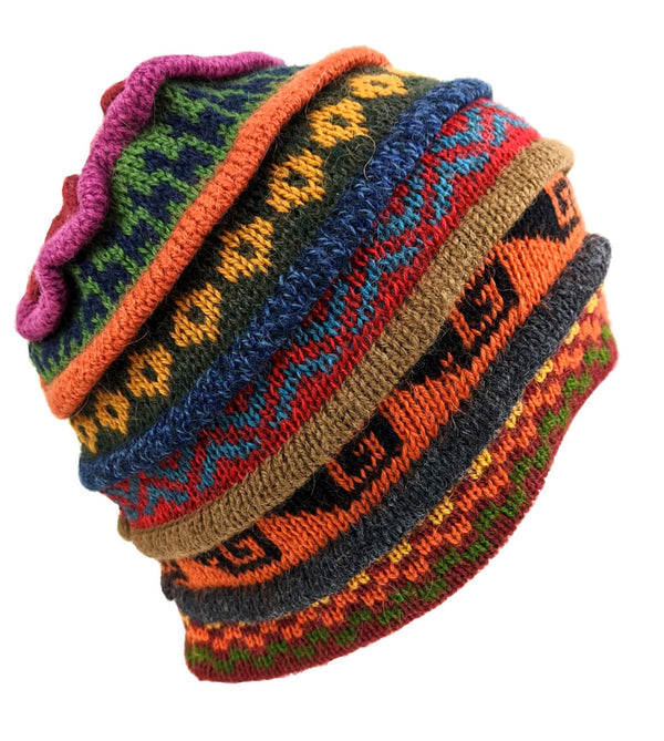 Beanie Multi Color Alpaca Hat