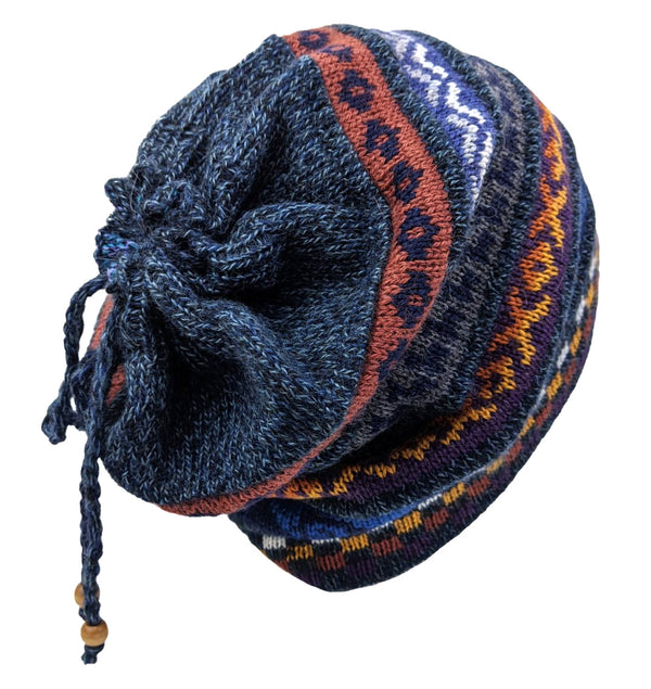 Alpaca Beanie Blue Multi One Size
