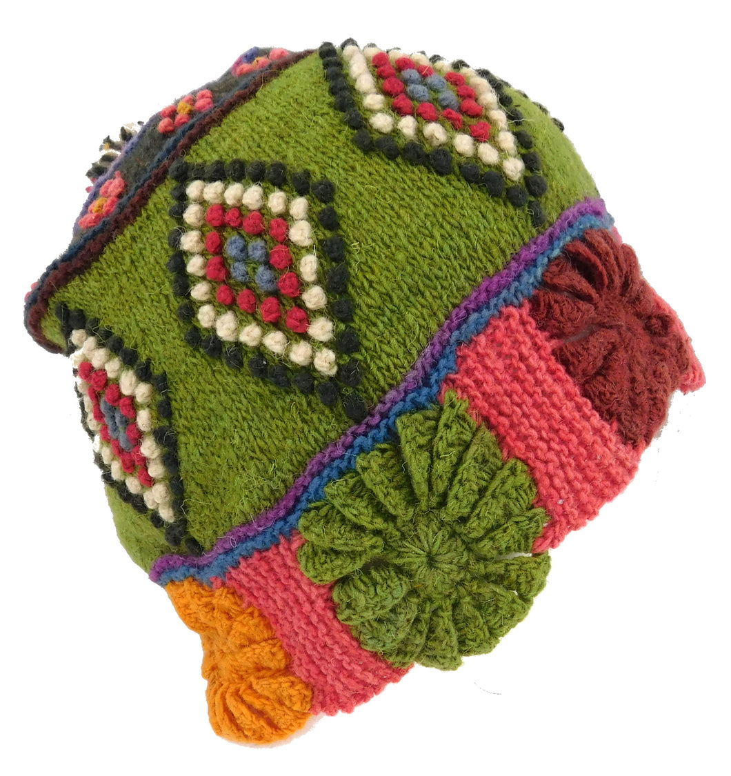 Handmade Beanie Multi Color #004487