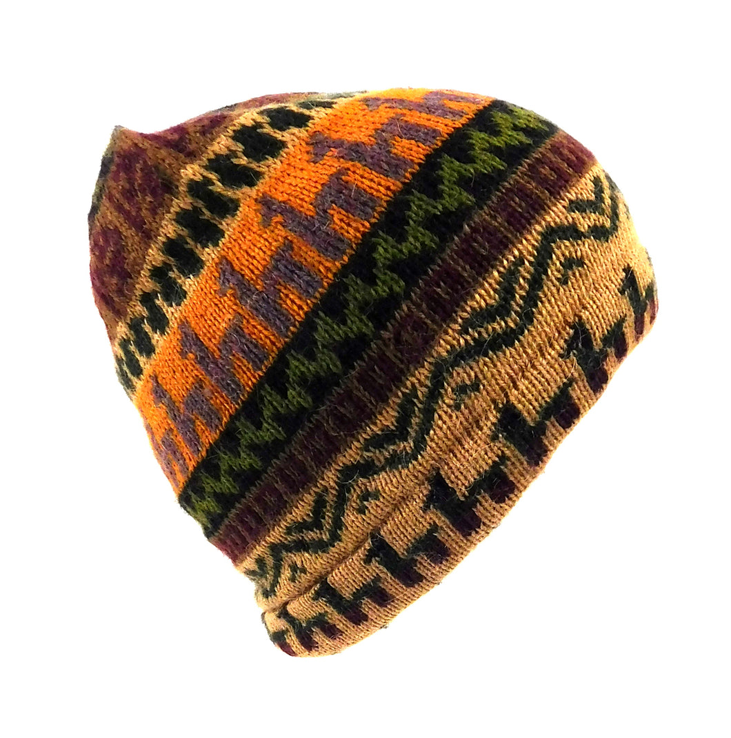 Beanie Alpaca Multi Color Hat S114701