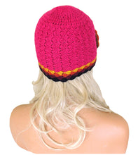 Load image into Gallery viewer, Alpaca Handmade Beanie Pink Color Small Size #D0214