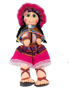 Pink Multi Color Andina Doll