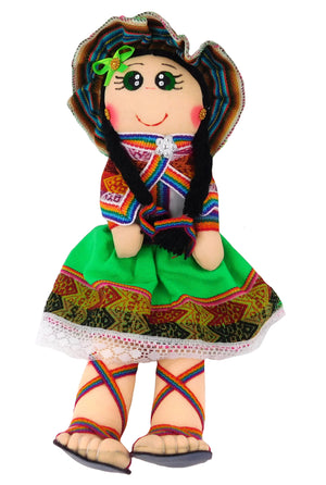 Green Color Andina Doll
