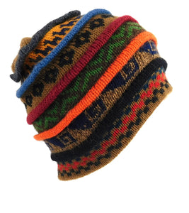 Beanie Multi Color Alpaca Hat # E0047