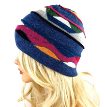 Load image into Gallery viewer, Black Multi Alpaca Hat#A00712