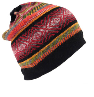 Men or Women's Alpaca Beanie Black Color
