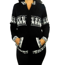 Load image into Gallery viewer, Black & White Alpaca Sweater