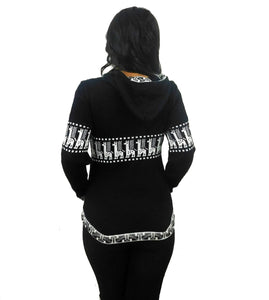 Black & White Alpaca Sweater