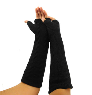Alpaca  Gloves Black Color