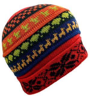 Alpaca Beanie Hat Multi Color