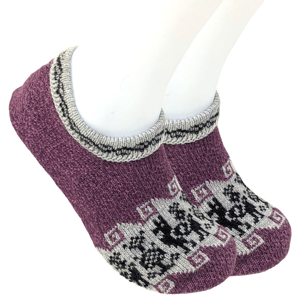 Knitted Slip On House Slippers Indoor Alpaca Wool