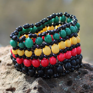 Handmade Rasta Bracelet Made with Seeds