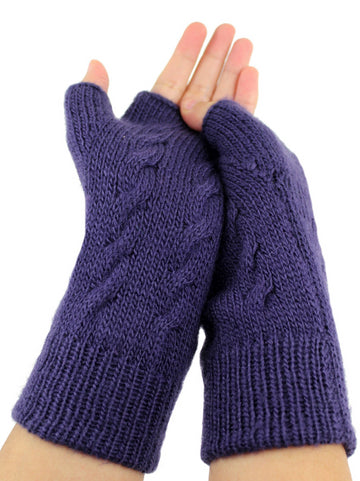 Alpaca  Gloves Blue Color