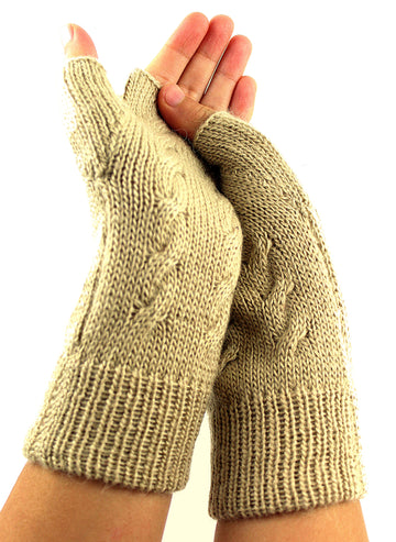 Alpaca Mittens Finger Less Gloves