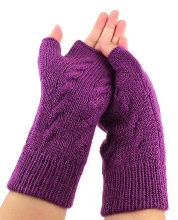 Alpaca  Gloves One Size Purple Color