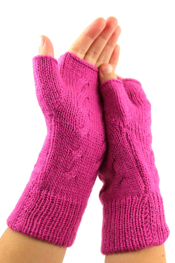 Alpaca  Gloves Pink Color