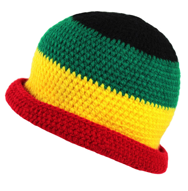 Acrylic Rasta Beanie Multi Color Hat