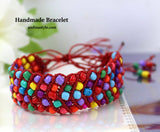 Red Multi Color Handmade Bracelet