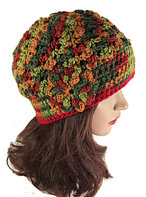 Women's Beanie Multi Color Acrylic Hat
