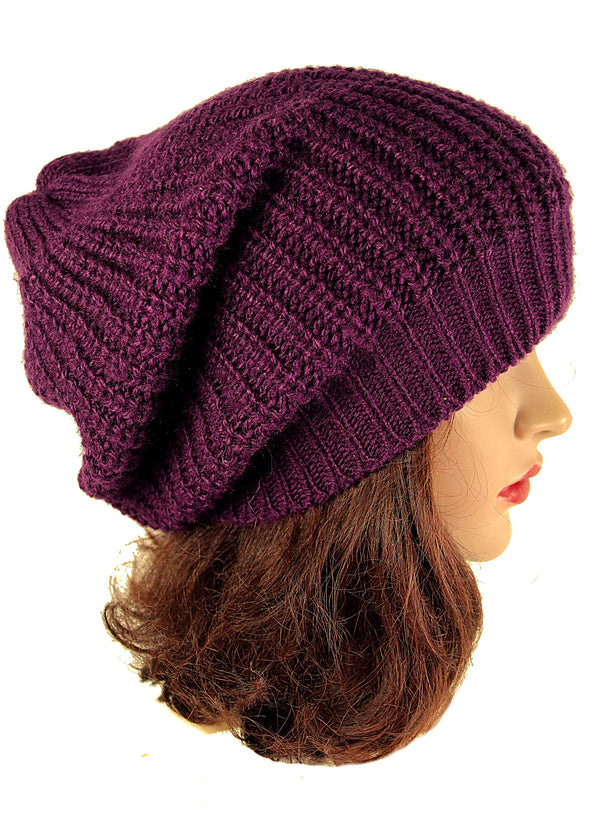 Handmade Beanie Purple Hat