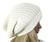 Knitted Beanie Hat Off White