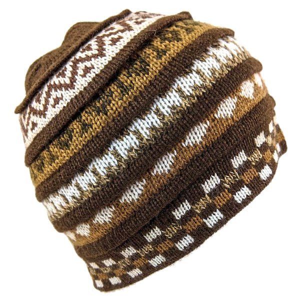 Alpaca Beanie Brown  Color Small Size